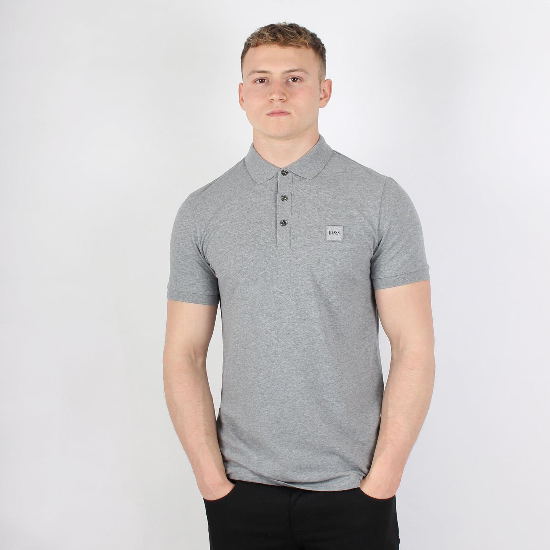 grey hugo boss polo